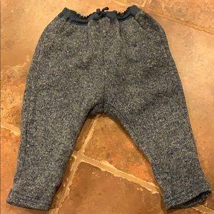 Blue tweed pants